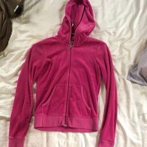Pink juicy couture zip up hoodie